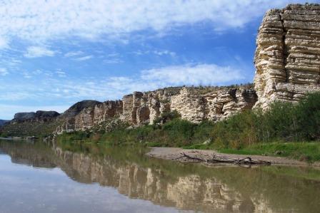 Limestone cliffs near Lajitas Pass
